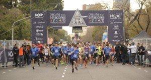 William hope participó, junto a 5.000 corredores, del Circuito de las Estaciones Invierno