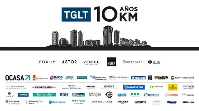 TGLT celebra sus 10 años con una carrera 10K en Puerto Madero
