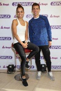 Maria Peralta y Luis Molina en la presentación de Deporflex de Laboratios Bagó